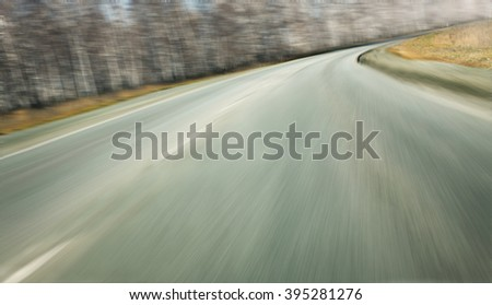 high speed on highway turn in the country