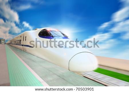 High Speed Train - stock photo
