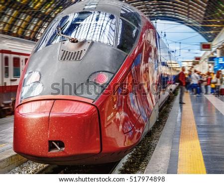 Highspeed Train Railway Station Milano Italy Stock Photo 517974898 ...