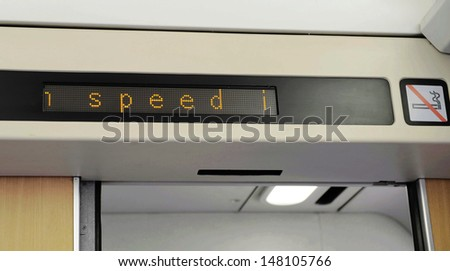 High-speed trains - stock photo