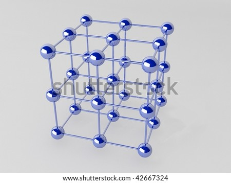 High technology background. Molecular crystalline lattice.