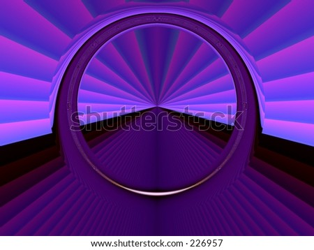 High technology cyber gate abstract background.Portal or door-way concept . - stock photo