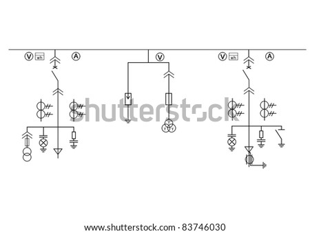 stock photo high tension circuit diagram 83746030 circuit diagram symbols stock images, royalty free images cy50a wiring diagram at fashall.co