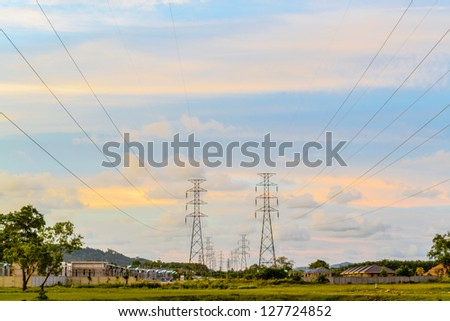 High tension electrical post