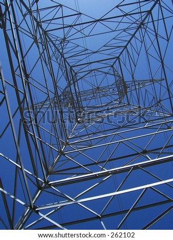 high tension power line structure