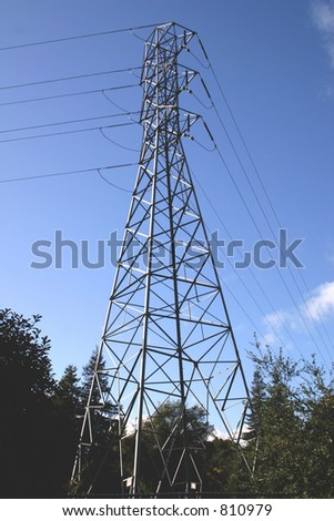 High Tension Tower - stock photo