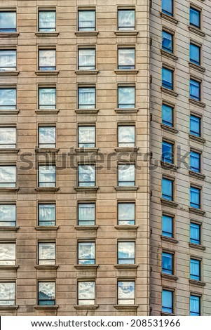 High vintage building - stock photo
