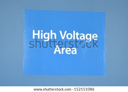 High voltage area sign - stock photo