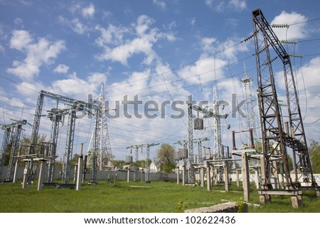 High-voltage electric substation on transmission of energy