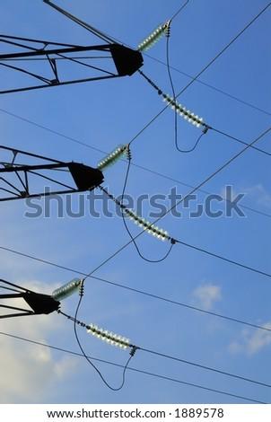 High voltage line - stock photo