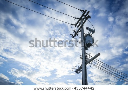 high voltage pole.