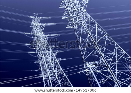 High voltage power - stock photo