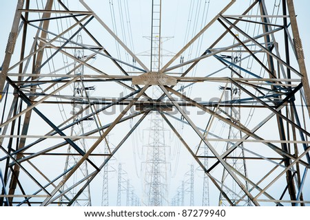 High voltage tower  lines