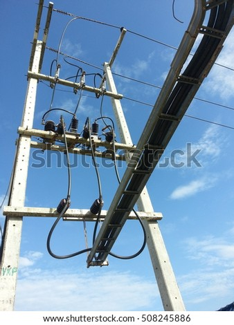 high voltage tower ,technology