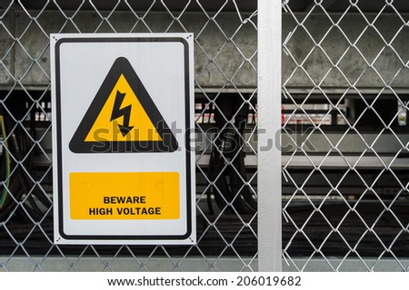 High voltage warning - stock photo