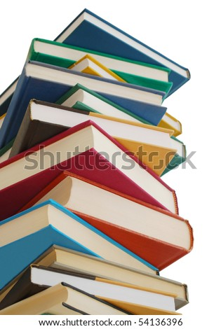 high volume textbooks - stock photo