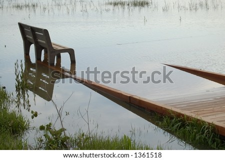 High water in the park - stock photo