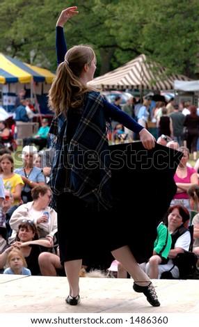 Highland Dancer - stock photo