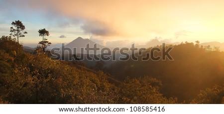 Highland of Guatemala - stock photo