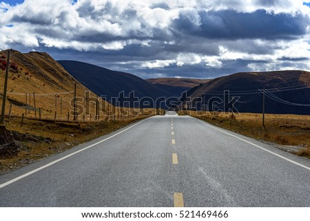 highland road to Daocheng, China