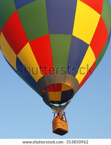 HIGHLAND VILLAGE, TEXAS/USA - AUGUST 19,2006: A hot air balloon in the Highland Village Balloon Festival race