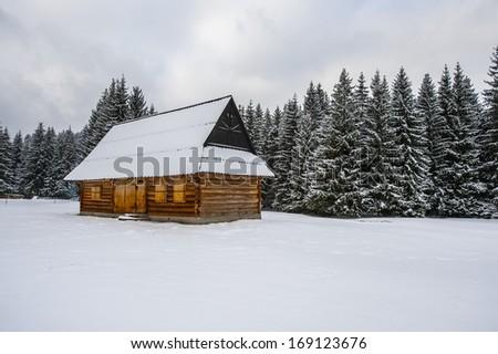 highlander's cabin - stock photo