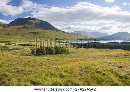 Highlands in spring, Scotland, UK - stock photo