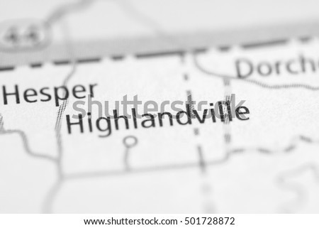 Highlandville. Iowa. USA.