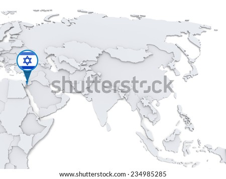 Highlighted israel on map asia national stock illustration 234985285 highlighted israel on map of asia with national flag gumiabroncs Choice Image