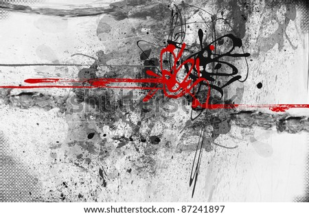 Highly detailed grunge abstract textured collage with space for your text - stock photo