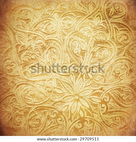 Highly detailed grunge background with oriental ornaments - stock photo