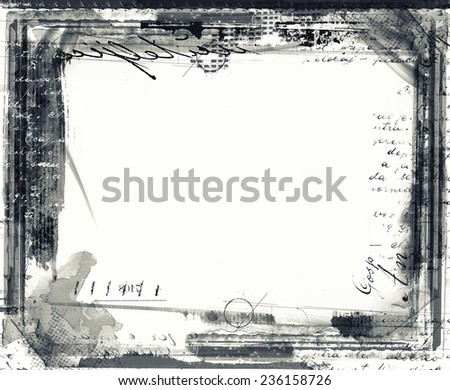Highly detailed grunge frame  with space for your text or image. Great grunge layer,background or texture for your projects.