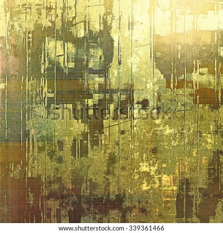 Highly detailed grunge texture or background. With different color patterns: yellow (beige); brown; gray; green - stock photo