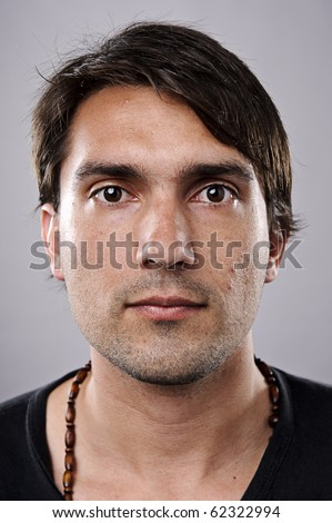 Highly detailed image of a brunette man (more of 100 faces collection in my portfolio) - stock photo
