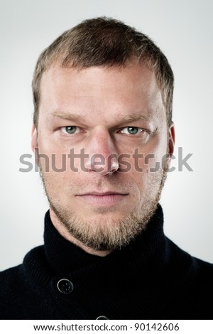 highly detailed portrait of a normal person. portfolio contains hundreds of these for cultural and ethnic diversity campaigns and concepts. (see also funny faces and smiling faces) - stock photo