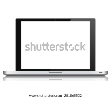 Highly detailed responsive laptop - stock photo