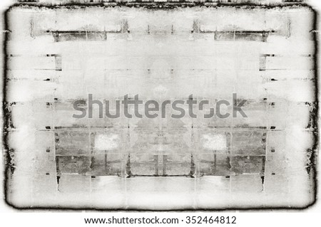 highly detailed textured grunge background frame - stock photo