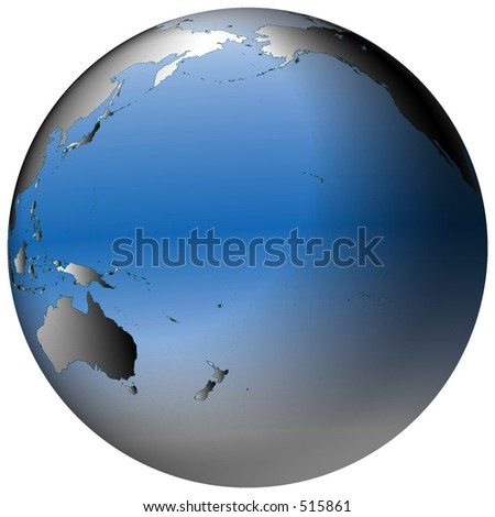 Highlydetailed world map spherical coordinates pacific stock highly detailed world map in spherical co ordinates with pacific ocean in view gumiabroncs Image collections