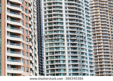 Highrise Apartments, Brisbane, Australia - stock photo