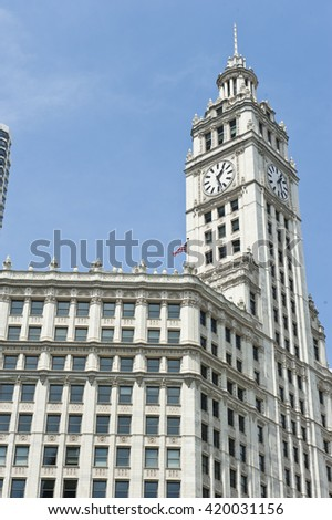 Highrise Buildings in Chicago - stock photo