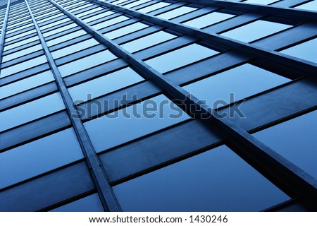 Highrise tower in downtown Chicago - stock photo