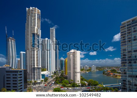 Highrises in Surfers Paradise, Queensland, Australia