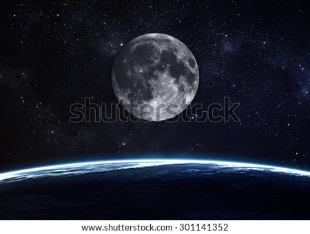 Hight quality Earth image. Elements of this image furnished by NASA - stock photo