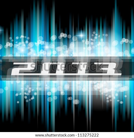 Hight Tech 2013 new year celebration poster. Ideal for club flyer or party invitation backgrounds. - stock photo