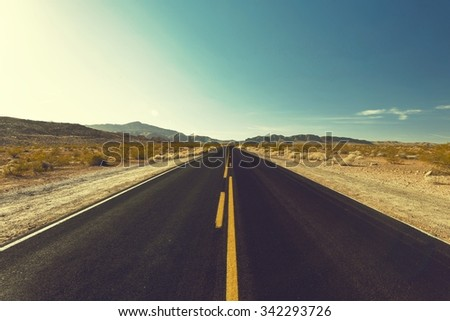 Highway. - stock photo
