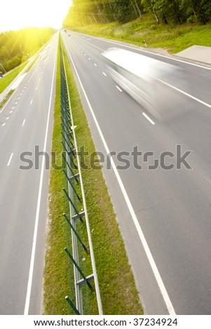Highway. - stock photo