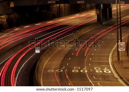 Highway At Night, Sydney, Australia - stock photo