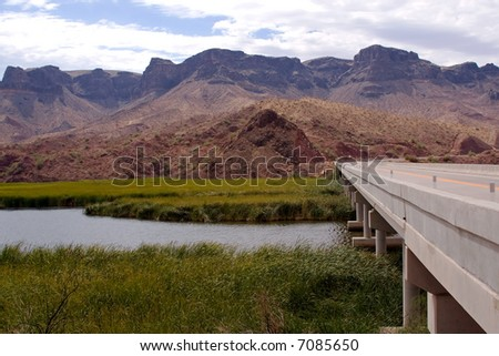Highway Bridge - stock photo