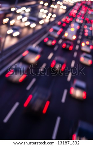 highway by night - stock photo
