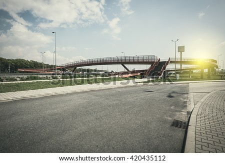 Highway exit - stock photo